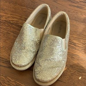 guess sparkly slide on shoes